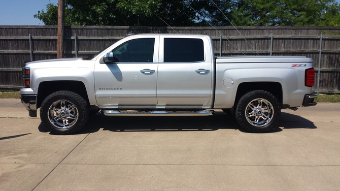 315 Rv additionally 166282 Any One With A White Or Pearl White Yukon Black Wheels additionally 2014 Gmc Sierra 1500 Fuel Maverick Leveling Kit also Custom Offsets Wheel Shine Kit For Painted Wheels besides This Gmc Sierra 1500 Is A Mean Green Monster. on 2014 gmc sierra leveling kit