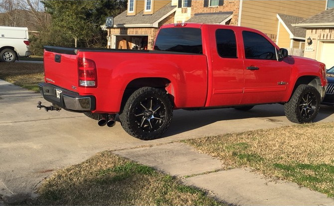 2008 GMC Sierra C1500 Extended Cab Nitto Trail Grappler M/T 295/55R20 (1266)