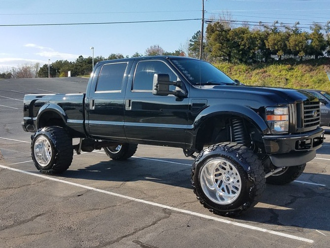 2008 Ford F250 FX4 Crew Cab 4x4 With TPMS Nitto Mud Grappler 40/15.50R22 (4147)