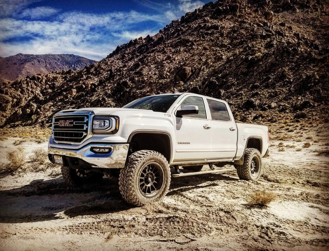 2016 GMC Sierra 1500 4wd Double Cab Firestone Destination M/T 35/12.50R20 (2124)