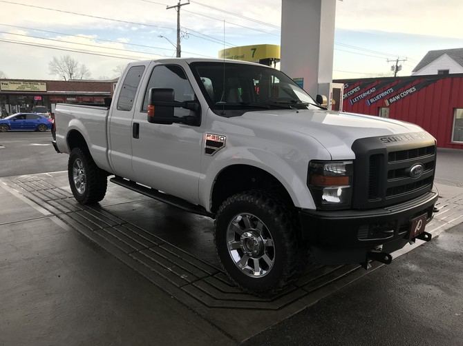 2009 Ford F350 XL Super Cab 4X4 Firestone Destination M/T 35/12.50R20 (3120)