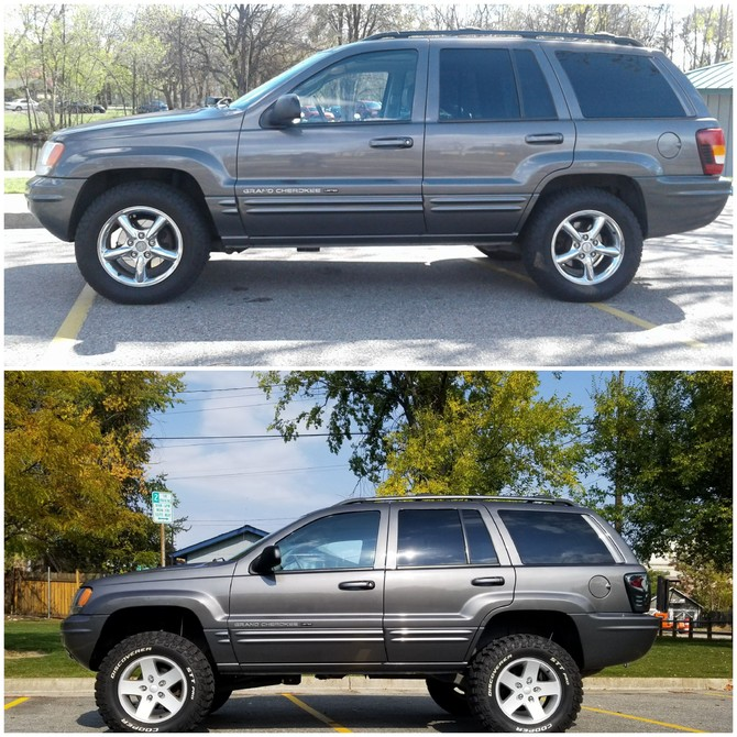 2002 Jeep Grand Cherokee Limited Standard Model Cooper Discoverer STT PRO 265/70R17 (3402)