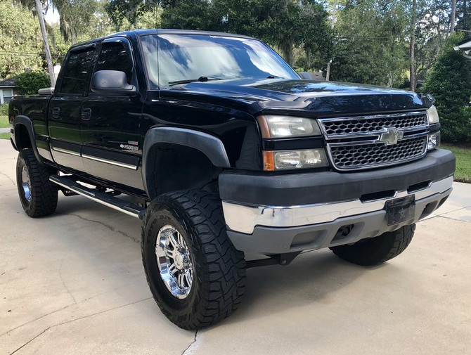 2005 Chevrolet Silverado 2500 Heavy Duty 4wd Crew Cab Toyo Open Country R/T 37/13.50R18 (3631)