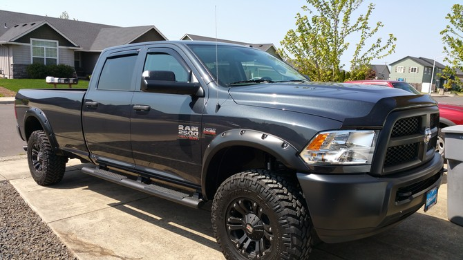2015 Ram 2500 4wd Crew Cab Nitto Trail Grappler M/T 295/70R18 (705)