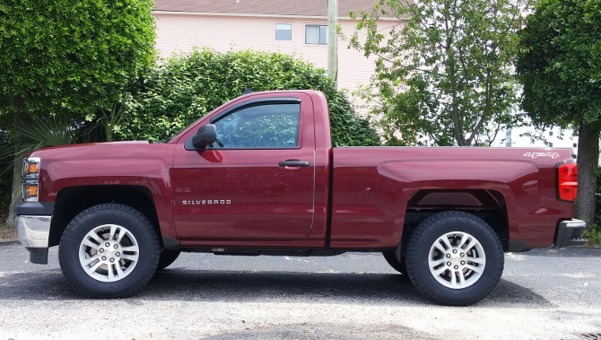 2014 Chevrolet Silverado 1500 4wd Regular Cab Nitto Terra Grappler G2 275/70R18 (898)