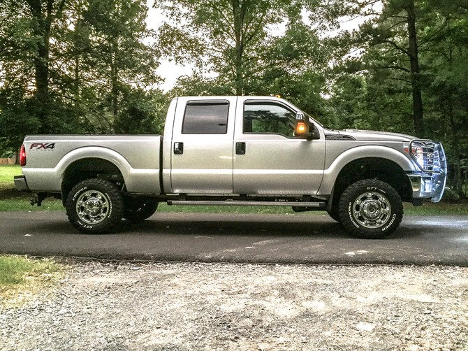 2014 Ford F250 4wd Crew Cab Cooper Discoverer STT PRO 275/70R18 (4970)