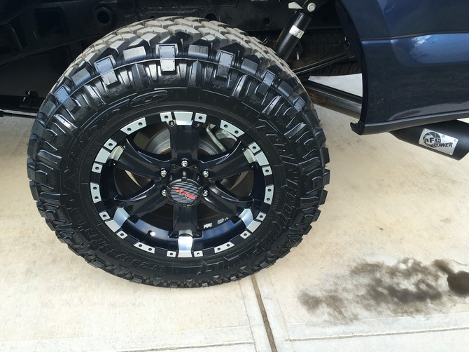 2015 Ford F150 4wd SuperCrew Nitto Trail Grappler M/T 285/65R18 (1283)