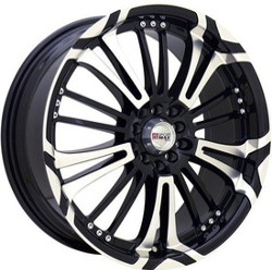 XXR 001 Machined/Bk 16X7 5-100 Wheel