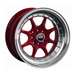 XXR 002 Red/Ml 16X8 5-100 Wheel