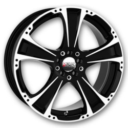XXR 008 Machined/Bk 15X7 4-100 Wheel
