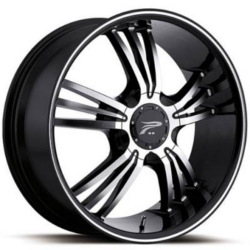 Platinum 122B WOLVERINE Black 18X8 5-114.3 Wheel