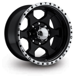 Ultra 175B ROGUE Black 18X9 6-135 Wheel