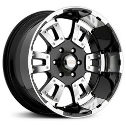 Diamo 17 KARAT Gloss Black Machined 18X10 8-165.1 Wheel
