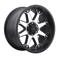 Ultra 198U BOLT Black 18X10 6-139.7 Wheel