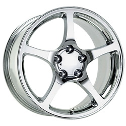 Wheel Replicas 2000 C5 Chrome 17X9 5-120.7 Wheel