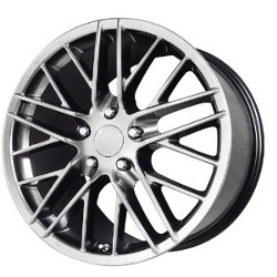 Wheel Replicas 2009 ZR1 Hyper Silver Dark 17X9 5-120.7 Wheel