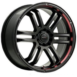 Drifz 207B FX Black 15X7 4-100 Wheel