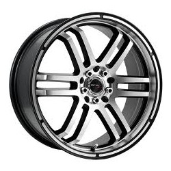 Drifz 207MB FX Black 16X7 4-100 Wheel