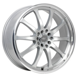 ICW Racing 211MS Silver 17X8 4-100 Wheel