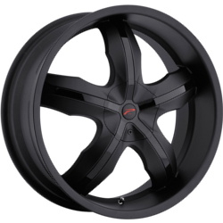 Platinum 212B WIDOW FWD Black 17X8 5-110 Wheel