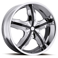 Platinum 212C WIDOW FWD Chrome 17X8 5-100 Wheel