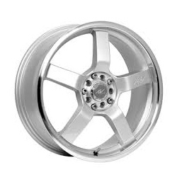 ICW Racing 212MS Silver 17X8 4-100 Wheel