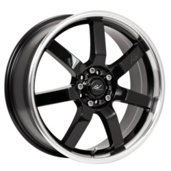 ICW Racing 213MB Black 16X8 4-100 Wheel