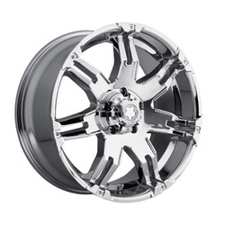 Ultra 238C GAUNTLET Chrome 15X8 6-139.7 Wheel
