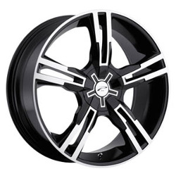Platinum 291B SABER FWD Black 18X8 5-115 Wheel