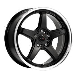 Drifz 304MB FX Black 15X7 4-100 Wheel