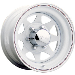 Pacer 310W-WHITE SPOKE White 14X7 5-120.7 Wheel