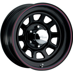 Pacer 342B- DAYTONA Black 15X8 6-139.7 Wheel