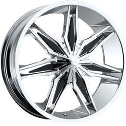 Milanni 368-STALKER Chrome W/ Black Inserts 20X8 5-110 Wheel