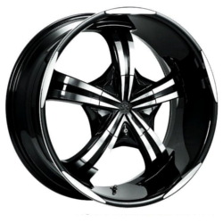 Motiv 404CB Chrome 22X10 5-115 Wheel