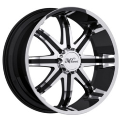 Milanni 446-KOOL WHIP 8 Gloss Black Machined Face W/ Chrome Cap