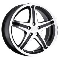 Milanni 446-KOOL WHIP FWD 5 SPOKES Gloss Black Machined Face 16X7 5-114.3 Wheel