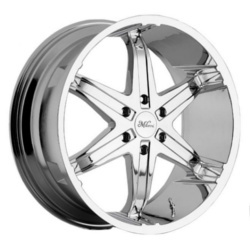 Milanni 446-KOOL WHIP RWD 6 SPOKES Phantom Chrome 26X10 5-139.7 Wheel