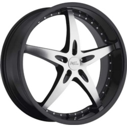 Milanni 453-ZS1 Gloss Black Machined Face W/ Ss Lip 22X10 5-112 Wheel