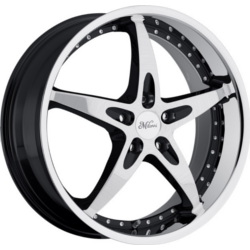 Milanni 453-ZS1 Gloss Black W/ Ss Lip 18X8 5-112 Wheel