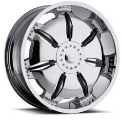 Milanni 455-PARALYZER Chrome W/ Black Accents
