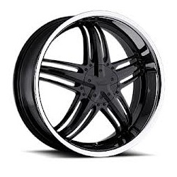 Milanni 457-FORCE Gloss Black W/ Ss Lip 20X8 5-110 Wheel