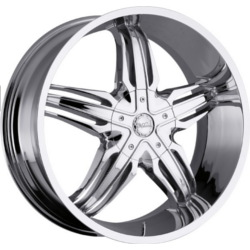 Milanni 458-PHOENIX Chrome 24X10 5-112 Wheel