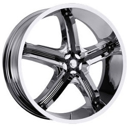 Milanni 459-BEL-AIR 5 Chrome W/ Black Inserts 20X8 5-120 Wheel