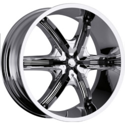 Milanni 460-BEL-AIR 6 Chrome W/ Black Face Plate 22X10 5-115 Wheel
