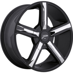 Platinum 499B DYNASTY Black 20X9 5-115 Wheel