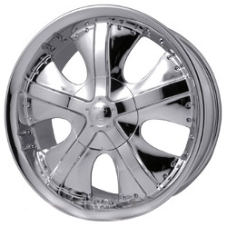 Strada 5-SPEED Chrome 20X9 6-135 Wheel