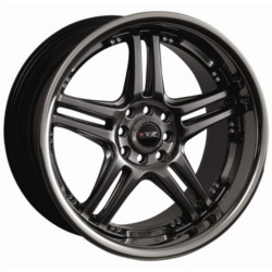 XXR 502 Chromium Black/Ssp 17X7 4-100 Wheel
