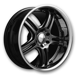 Euromax 515 Chromium Black/Ssr 22X10 6-135 Wheel