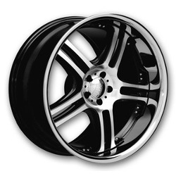 Euromax 515 Machined/Ssr 22X10 6-135 Wheel