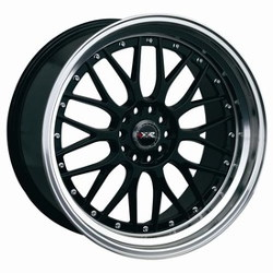 XXR 521 Black/Ml w/Chrome 17X7 4-100 Wheel